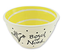 Ceramic Yiddish Ware - Bowl of Nosh - Set of 2