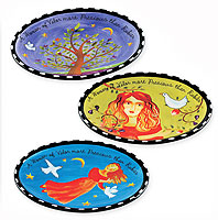 Ceramic Woman of Valor set of 3 Trays