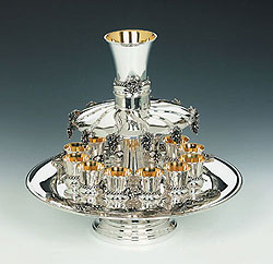 Sterling Silver Kiddush Fountain - Grapes