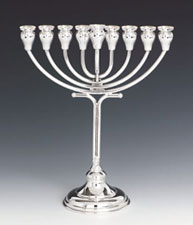 Sterling Silver Menorah - Bareket Collection
