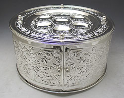 Silver Plated 3 Tier Seder Plate & Matzah Holder