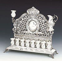 Sterling Silver Menorah - Sun Collection
