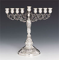 Sterling Silver Candle Menorah