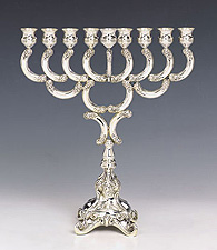Sterling Silver Menorah - Charenko Collection