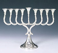 Sterling Silver Menorah - Bol Collection
