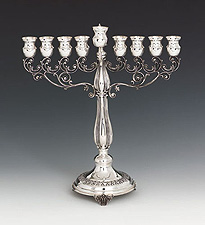 Sterling Silver Menorah - Italian Collection