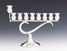 Sterling Silver Menorah - Question Mark
