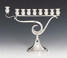 Sterling Silver Menorah - Question Mark Collection