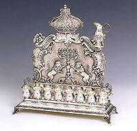 Sterling Silver Menorah - Ancient Lion Collection