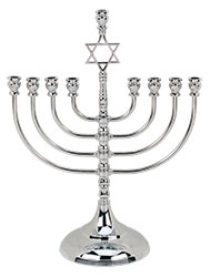 Traditional Silver Plated Menorah