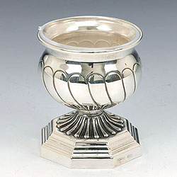 Sterling Silver Salt Dish - Stripes