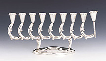 Sterling Silver Menorah - Rom Collection