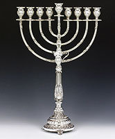 Sterling Silver Menorah -  Doble Collection
