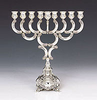 Sterling Silver Menorah -  Ben Yehuda Collection
