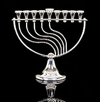 Sterling Silver Menorah -  Melodi Collection