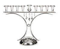 Sterling Silver Menorah -  Jewelry Collection