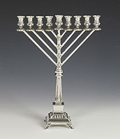 Sterling Silver Menorah -  Supra Collection - Chabad Style