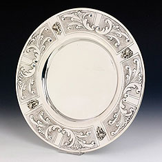 Sterling Silver Kiddush Cup Tray - Margarita