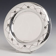 Sterling Silver Kiddush Cup Tray - Chenteros