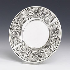 Sterling Silver Kiddush Cup Tray - Intricate