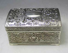 Silver Plated Etrog Box