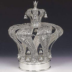 Sterling Silver Torah Crown - Supurla