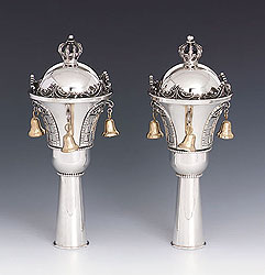 Sterling Silver Torah Rimonim - Royal