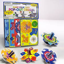 Pop-Out Dreidel Kit - Thick Plastic Board