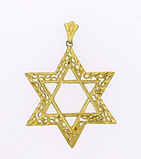 14K Gold Extra Large Star of David