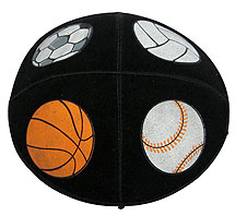 Suede Children's Kippah - Sports