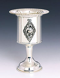 Sterling Silver Havdallah Candle Holder - Sheblol