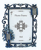 Jeweled Blue / Silver Tree of Life Picture Frame