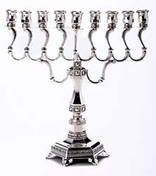 Large Sturdy Silver Plated Menorah
