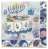 Hanukkah Luncheon Napkins - Pack of 16