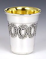 Sterling Silver Lechaim Cups - English