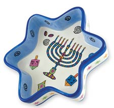 Ceramic Hanukkah Star Tidbit Tray