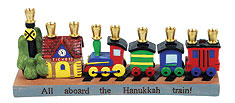 Adorable Resin Railroad Menorah