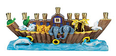 kids noah's arc menorah