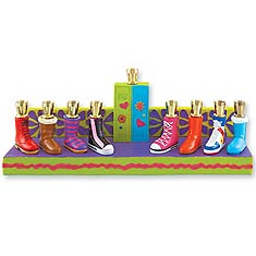 Adorable Shoes Menorah