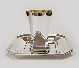 Sterling Silver Kiddush cup Set - Neorah