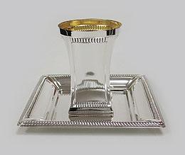 Sterling Silver Kiddush cup Set - Leguna