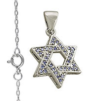 Sterling Silver Star of David Loaded with CZ'S