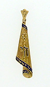 14K Gold Mezuzah Scroll Pendant