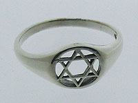 Silver Star of David Ring