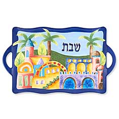 Ceramic Shabbat Tray - Jerusalem