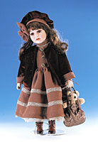 Ellis Island Porcelain Doll - Molly