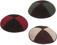 Two Tone Suede Kippot