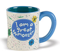 Ceramic Yiddish Mugs - Great Shmoozer