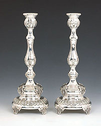 Sterling Silver Candlestick Set - Fountain