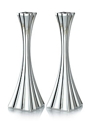 Sterling Silver Candlestick Set - Galil